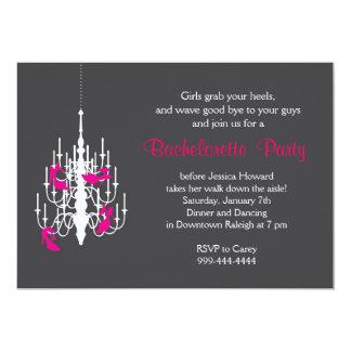 Invitación del fiesta de Bachelorette del tacón