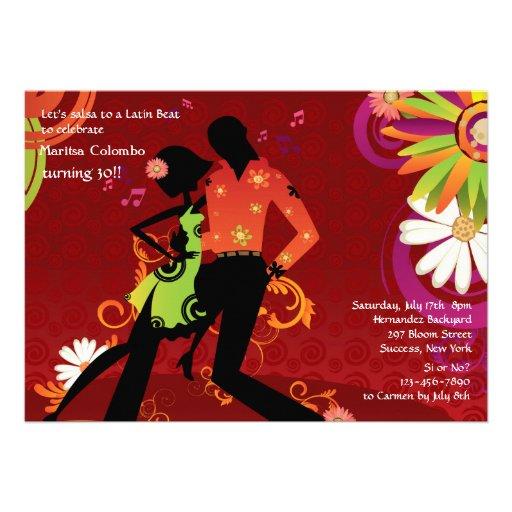 Invitación del fiesta de baile de la salsa