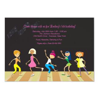 Invitación del fiesta de baile de los chicas