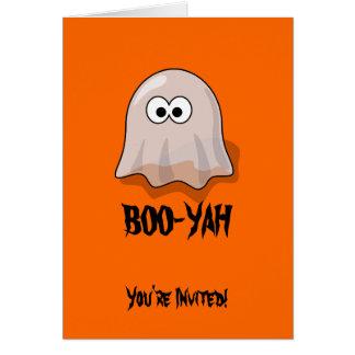 Invitación del fiesta de BOO-YAH Halloween Tarjeta De Felicitación