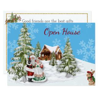 Invitación del fiesta de casa abierta del navidad