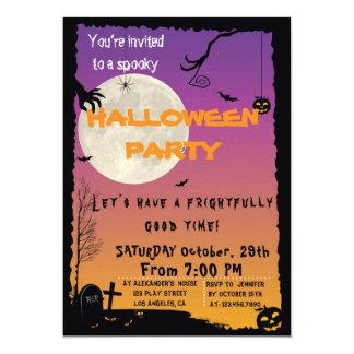 Invitación del fiesta de casa de Halloween