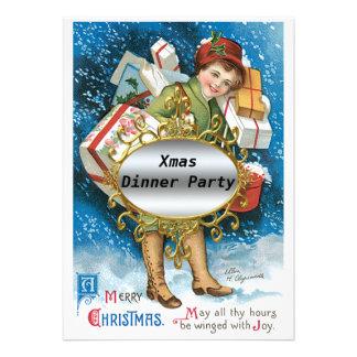 Invitación del fiesta de cena de navidad