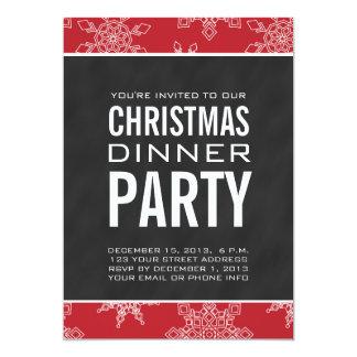 Invitación del fiesta de cena de navidad de la