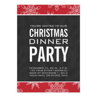Invitación del fiesta de cena de navidad de la piz