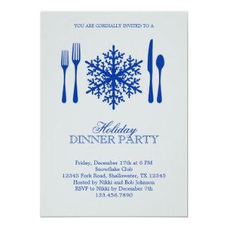 Invitación del fiesta de cena de navidad del invitación 12,7 x 17,8 cm