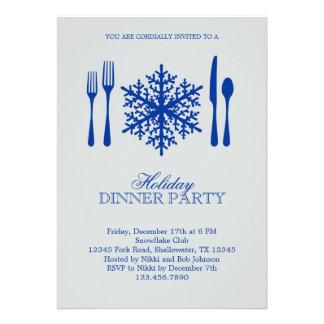 Invitación del fiesta de cena de navidad del cubie
