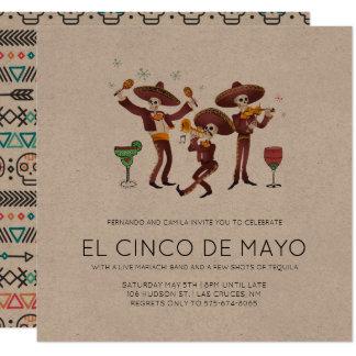 Invitación del fiesta de Cinco de Mayo