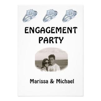 Invitación del fiesta de compromiso