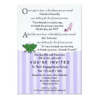 Invitación del fiesta de compromiso de la