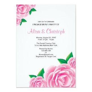 Invitación del fiesta de compromiso de la flor de