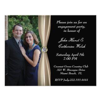 Invitación del fiesta de compromiso de la foto