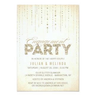 Invitación del fiesta de compromiso de la mirada invitación 12,7 x 17,8 cm