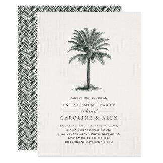 Invitación del fiesta de compromiso de la palma de