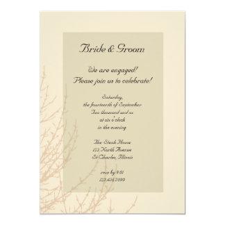 Invitación del fiesta de compromiso de las ramas
