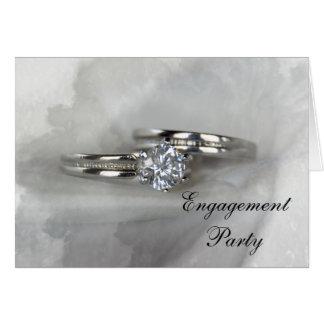 Invitación del fiesta de compromiso de los anillos