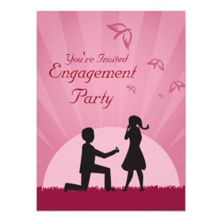 Invitación del fiesta de compromiso de los pares