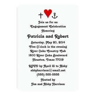 Invitación del fiesta de compromiso del amor el |