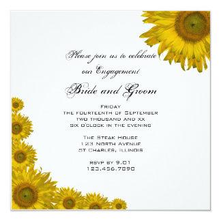 Invitación del fiesta de compromiso del borde del invitación 13,3 cm x 13,3cm