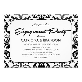 Invitación del fiesta de compromiso del estampado