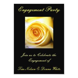 Invitación del fiesta de compromiso del rosa