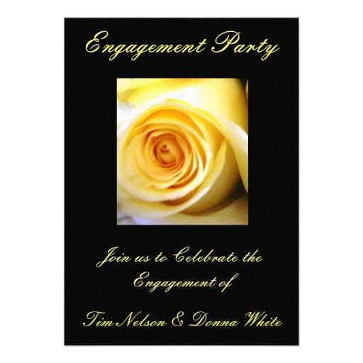 Invitación del fiesta de compromiso del rosa amari