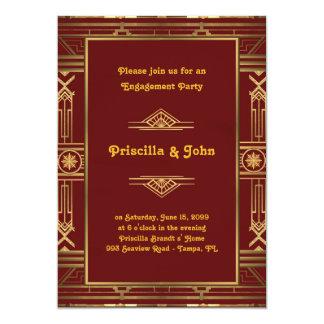Invitación del fiesta de compromiso, gran estilo