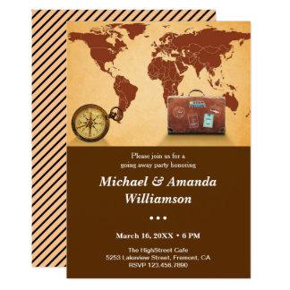 Invitación del fiesta de despedida del mapa del