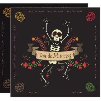 Invitación del fiesta de Dia de los Muertos
