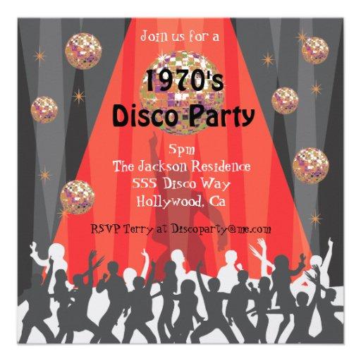 Invitaci n del fiesta de disco de los a os 70 invitaci n - Fiesta disco anos 70 ...