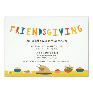 Invitación del fiesta de Friendsgiving