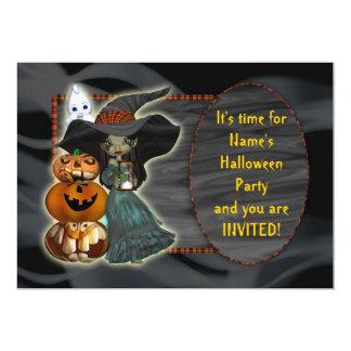 Invitación del fiesta de Halloween con el fantasma