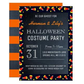 Invitación del fiesta de Halloween de la pizarra