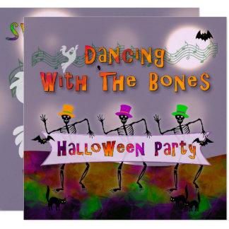 Tarjeta Invitación del fiesta de Halloween de los huesos