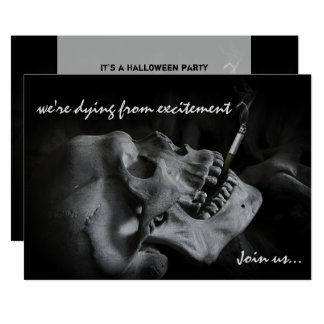Invitación del fiesta de Halloween del cigarrillo