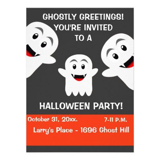 Invitación del fiesta de Halloween del fantasma