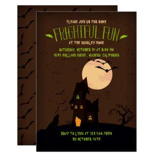 Invitación del fiesta de Halloween del lobo del
