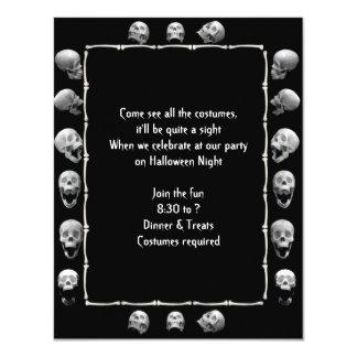 Invitación del fiesta de Halloween del marco del