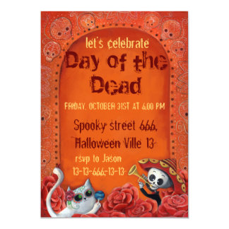 Invitación del fiesta de Halloween del mexicano