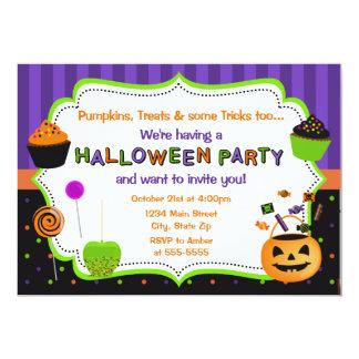 Invitación del fiesta de Halloween del niño