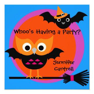 Tarjeta Invitación del fiesta de Halloween del pitido de