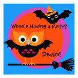 Invitación del fiesta de Halloween del pitido de W