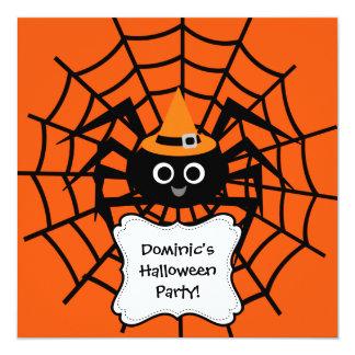 Invitación del fiesta de Halloween del Web de