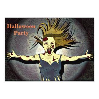 Invitación del fiesta de Halloween del zombi