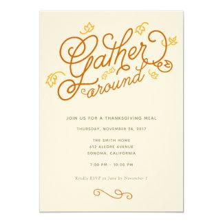 Invitación del fiesta de la acción de gracias