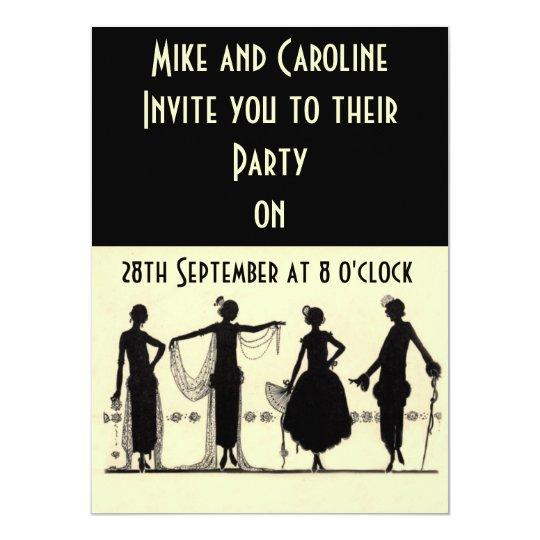 Invitaci n del fiesta de la aleta de los a os 20 - Fiesta anos 20 ...