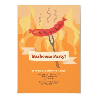 Invitación del fiesta de la barbacoa