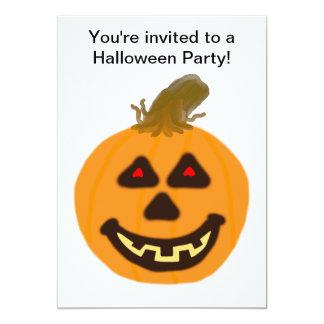 Invitación del fiesta de la calabaza y del invitación 12,7 x 17,8 cm