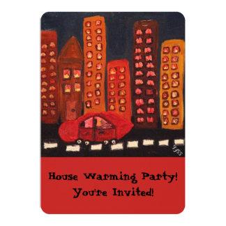 Invitación del fiesta de la casa que se calienta