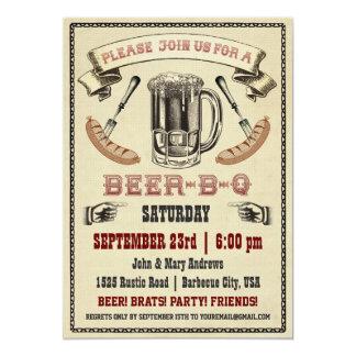 Invitación del fiesta de la Cerveza-B-q
